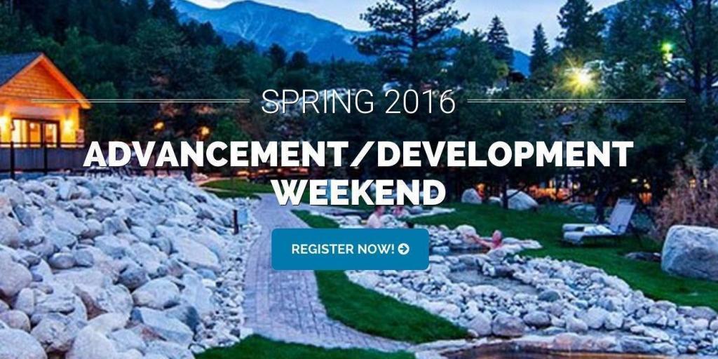Advancement / Development Weekend 2016