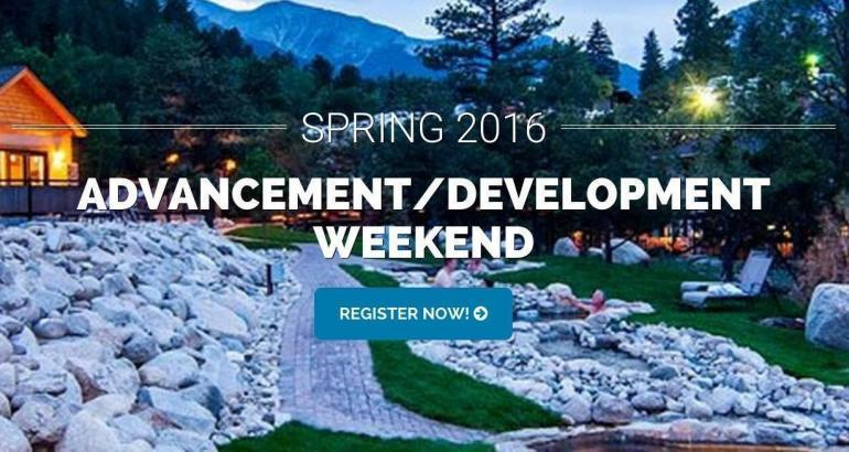 Advancement / Development Weekend 2016